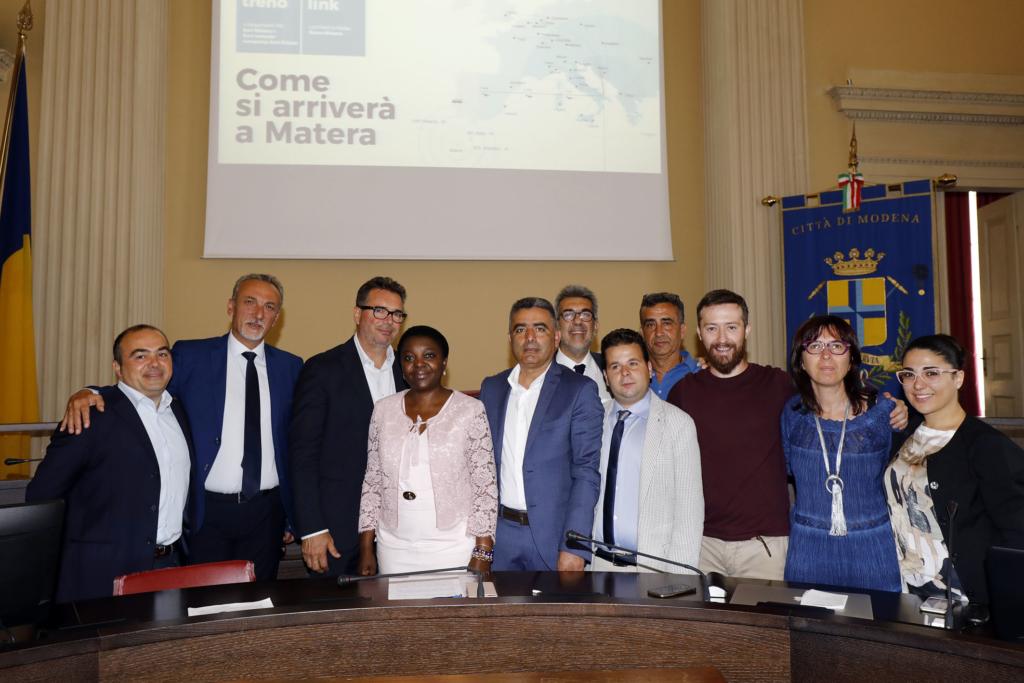 La dlegazione di Matera a Modena