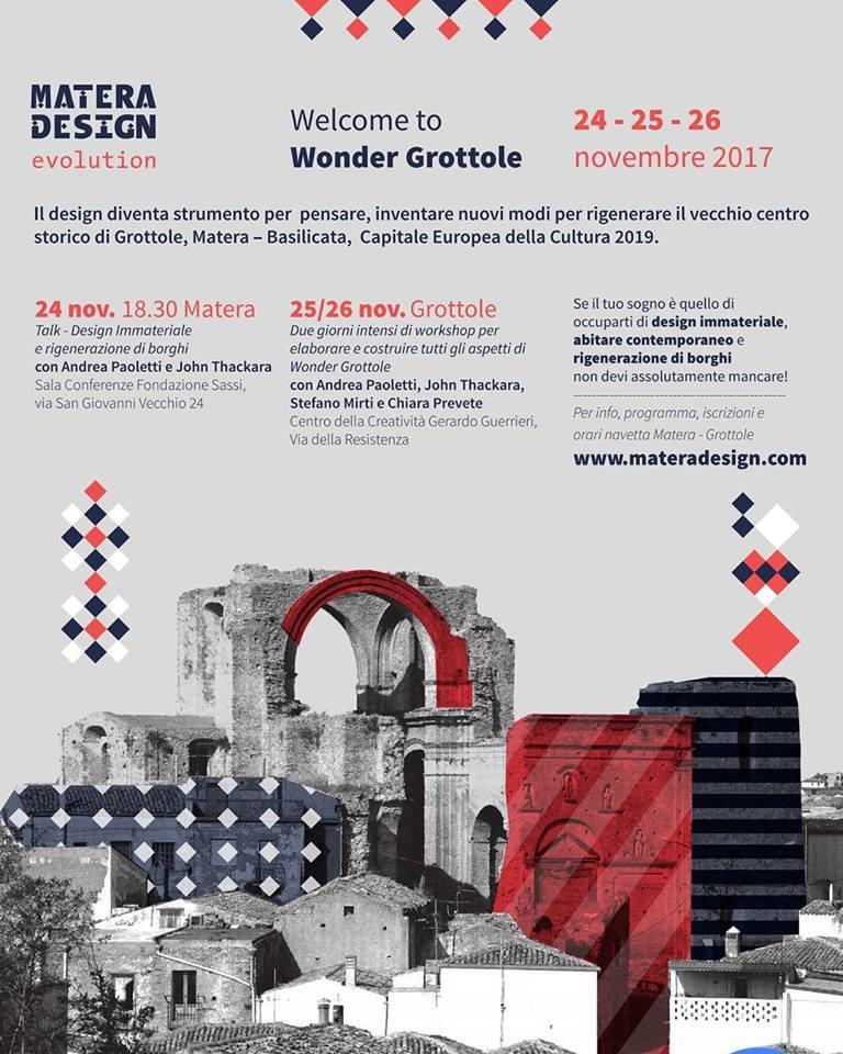 matera design wonder grottole programma
