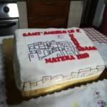 La bellissima torta dedicata alla community di Mammamiaaa dai cittadini di Sant'Angelo Le Fratte