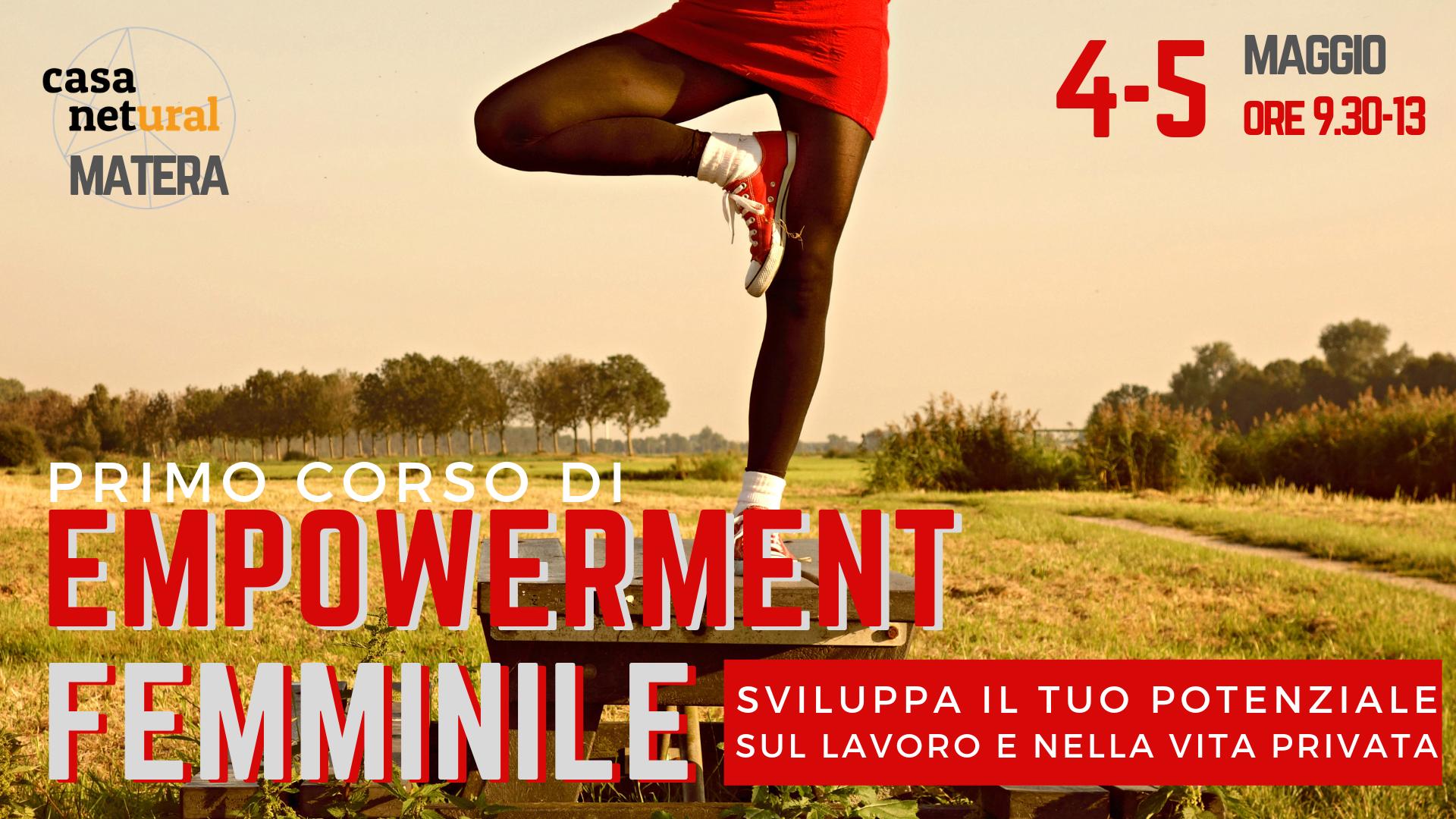 Corso di empowerment femminile a Matera
